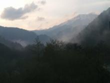 Ontake-san in mist