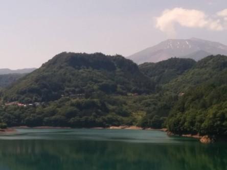 Smoking Mt. Ontake, mid-summer