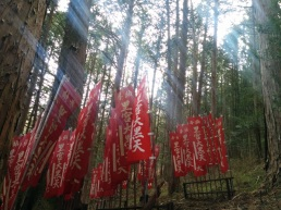 Flags at the shrine for Daikokuten ... in India known as Shiva