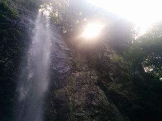 Shintaki Falls in the morning